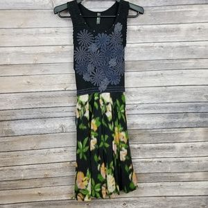 Free People Blue Floral Sleeveless Fit Flare Dress
